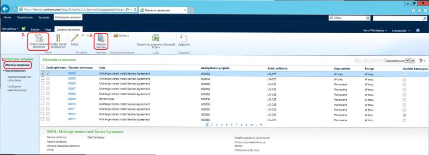Enterprise Portal wydok pracownika - Dynamics AX