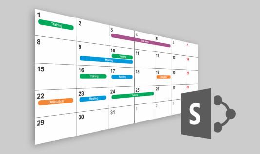 Kolorowy kalendarz SharePoint