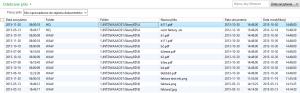 Lista odebranych niewykorzystanych skanów dokumentów Dynamics AX 2012