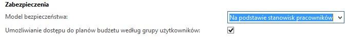 stanowiska pracownikow i grupy uzytkownikow - Kontrola dostępu do planów budżetu w AX 2012