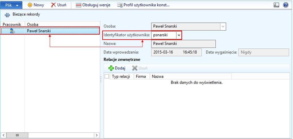 stanowiska pracownikow - Kontrola dostępu do planów budżetu w AX 2012