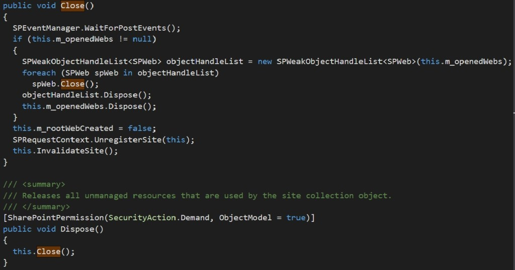 Weak Object Handle List