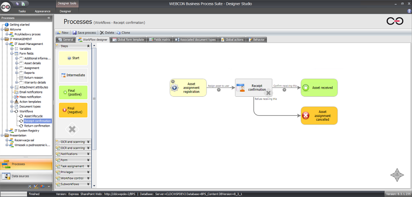 designer - WEBCON BPS Express - pierwszy krok do automatyzacji