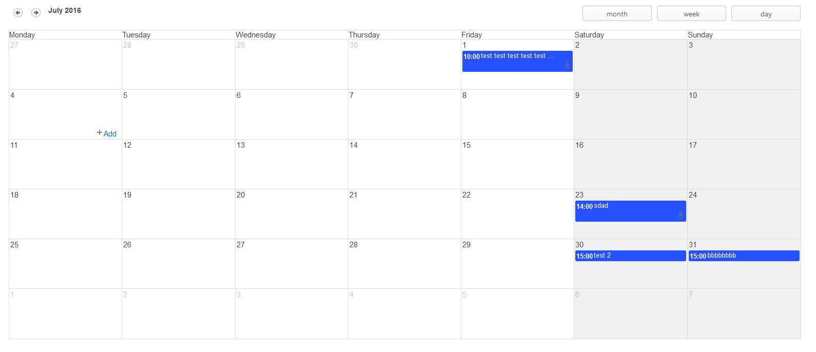 Angular Calendar.Sharepoint Calendar Blogersii