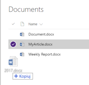 SharePoint My article