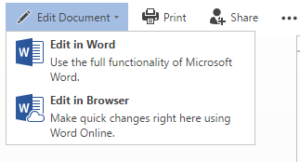 SharePoint Edit in Word