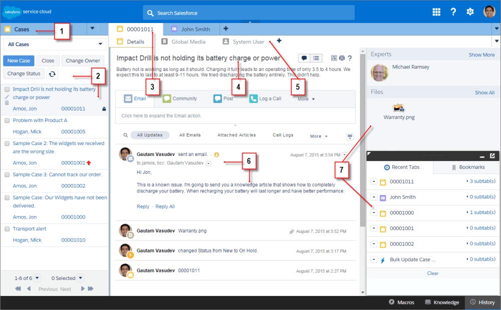 1 - Salesforce Console - aplikacja wspierająca zarządzanie relacjami z klientami