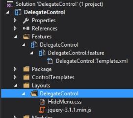 delegatecontrol 2 hidemenu css - Kontrolka DelegateControl
