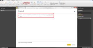 6. Advance editor 300x156 - Trendy na r-bloggers, czyli analiza danych z Facebooka w Power BI