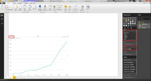 8. Line chart 300x161 - Trendy na r-bloggers, czyli analiza danych z Facebooka w Power BI