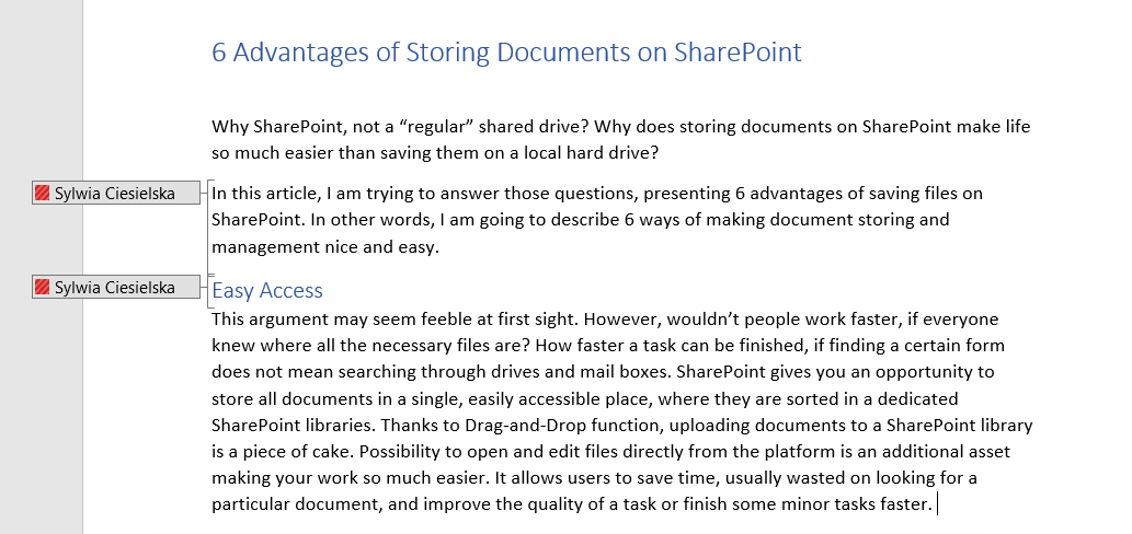 SharePoint Co-authoring