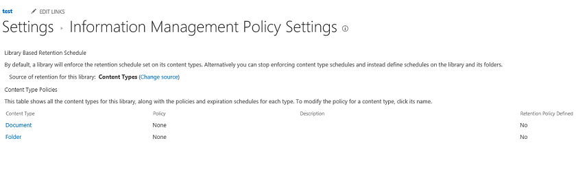 Wybór konfiguracji policy - dokument albo folder
