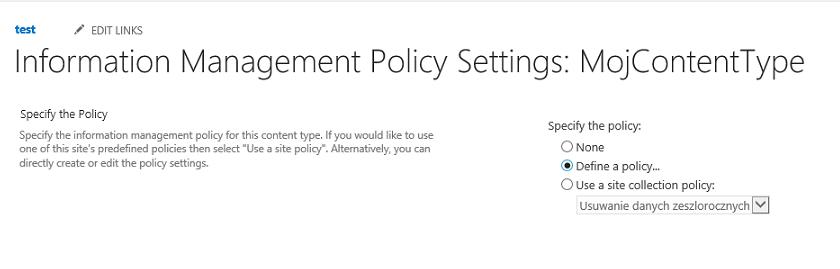 Wybieranie źródła policy
