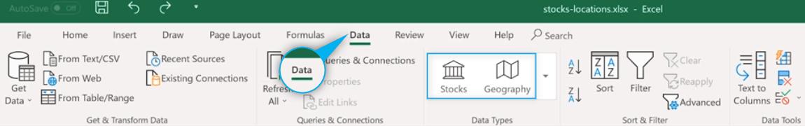 new data types - Microsoft Excel - nowe funkcje z zakresu AI