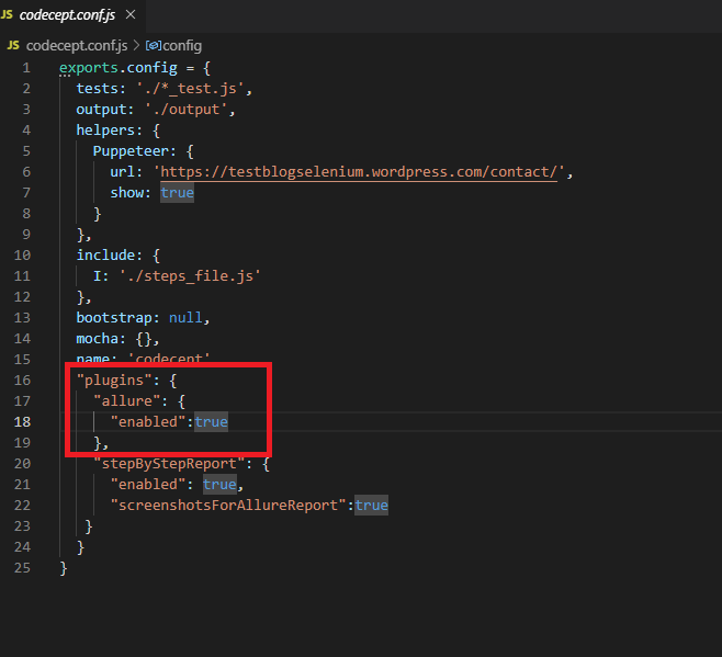allure plugin - CodeceptJS - Przyjazna automatyzacja testów akceptacyjnych dla www!