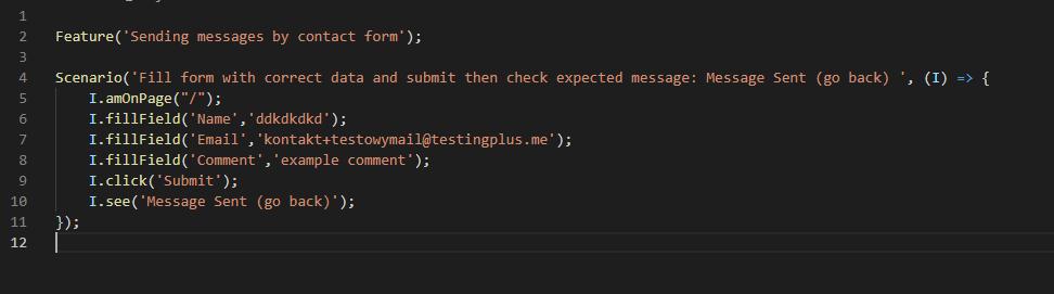 test how it looks - CodeceptJS - Przyjazna automatyzacja testów akceptacyjnych dla www!