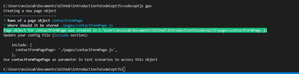 codecept own steps - CodeceptJS – część 2 - uruchamianie współbieżne, page object pattern