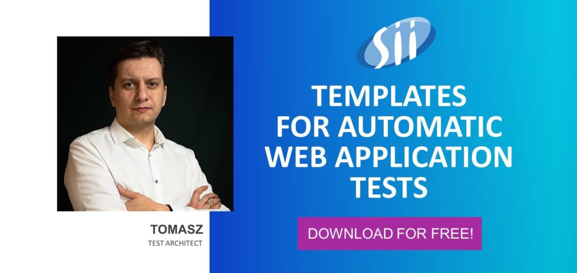 Free templates for automated testing of Web applications