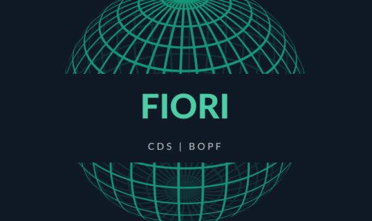 Tworzenie aplikacji Fiori z wykorzystaniem CDS i BOPF