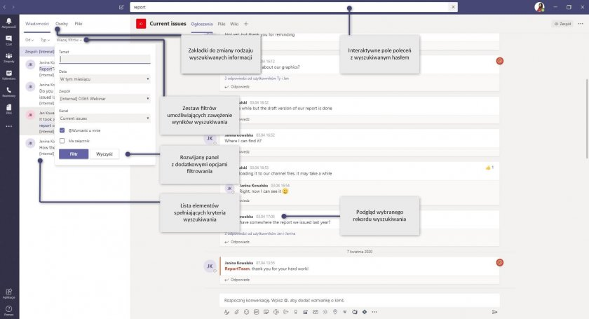 1 MS Teams Command Box wyszukiwanie e1588143992241 - Microsoft Teams - zwiększ produktywność za pomocą pola poleceń