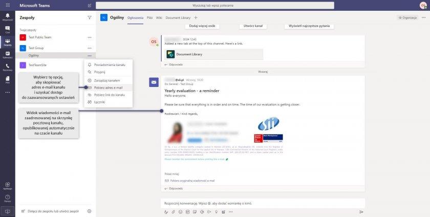 11 MS Teams connections outlook kanal email e1593076112555 - Microsoft Teams - osobiste centrum zarządzania na platformie Microsoft 365
