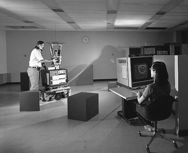 Shakey Prototype Computer Vision Software Development - Sprint przez historię sztucznej Inteligencji