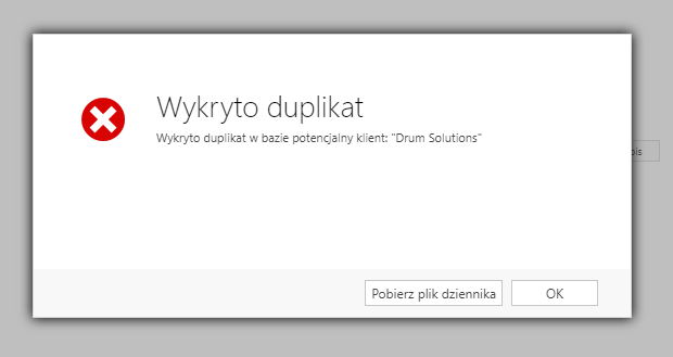 duplikaty 1 - Detektor duplikatów dla potencjalnych klientów i kont z możliwością przypisywania nieaktywnych rekordów
