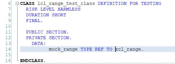 Deklaracja definicji danych - ABAP Unit i Test-driven Development
