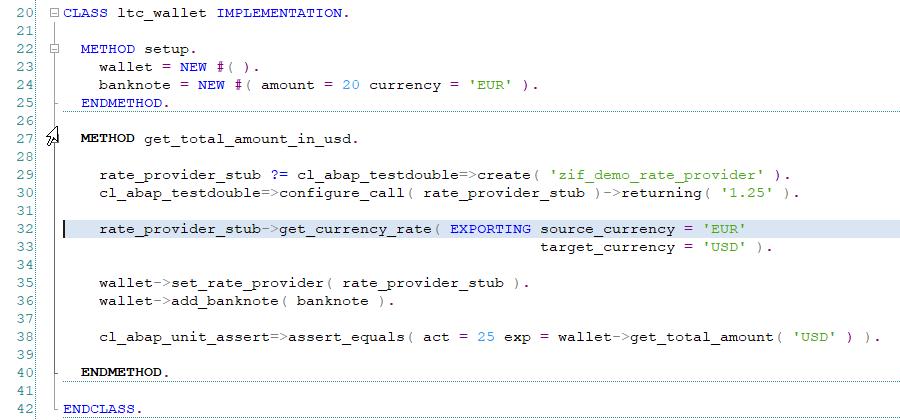 Implementacja Test Doubles cd - ABAP Unit i Test-driven Development
