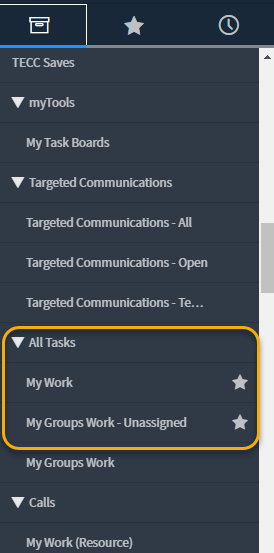 Widok All Tasks