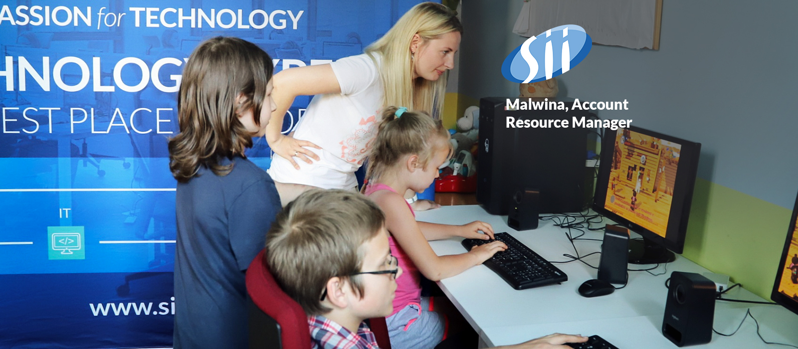 Knowledge sharing gives joy – Sii Power Volunteers run IT classes for kids